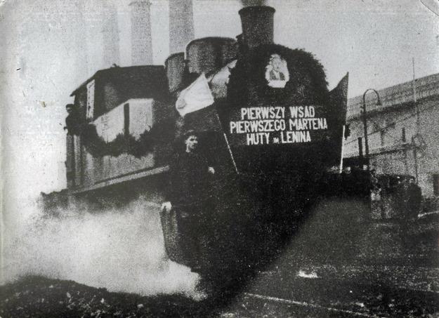 Uruchomienie pierwszego wielkiego pieca w Hucie im. Lenina, Nowa Huta, 22.07.1954 /FoKa /Agencja FORUM