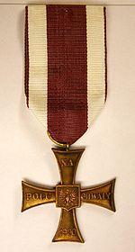 Krzyż walecznych 1920 r.