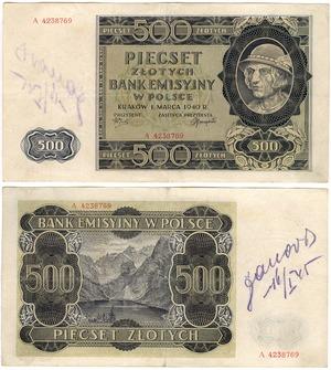 """Banknot o nominale 500 złotych (tak zwany """"góral """") /Janusz Fila /Agencja FORUM/"""
