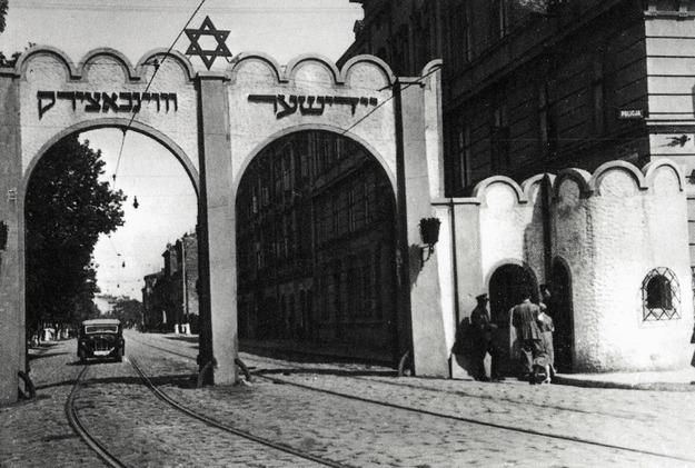 Brama wjazdowa do krakowskiego getta /reprodukcja FoKa /Agencja FORUM