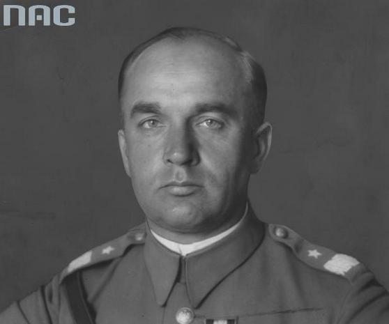 Tadeusz Kasprzycki – komendant I Kompanii Kadrowej /Ze zbiorów Narodowego Archiwum Cyfrowego/
