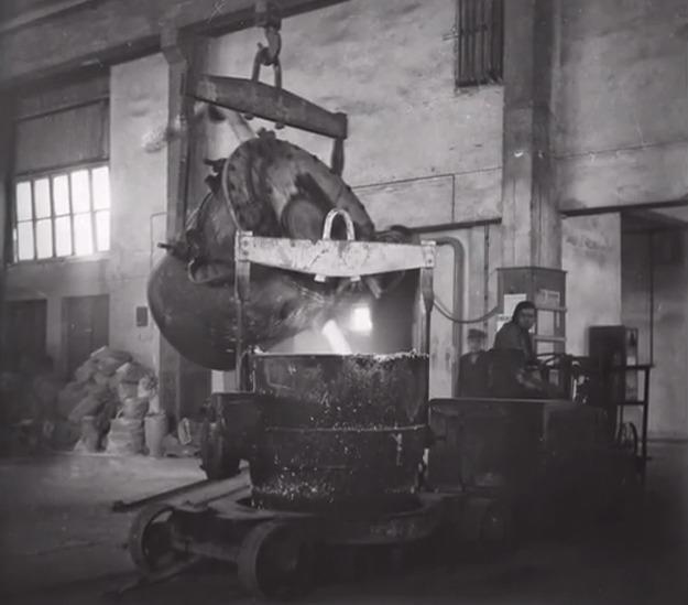 Produkcja w Hucie Aluminium w Skawinie /Archiwum autora/