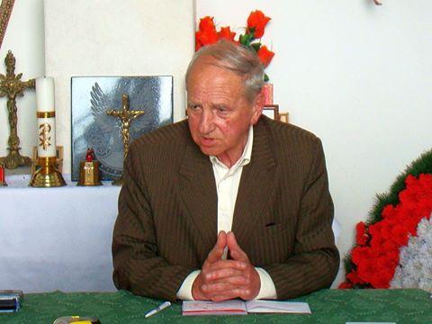 Pan Jan Franczuk, Prezes Polskiego Towarzystwa Opieki nad grobami wojskowymi.
