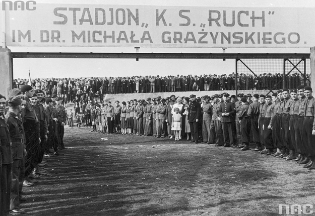 Uroczyste otwarcie stadionu sportowego w Hajdukach Wielkich /Z archiwum Narodowego Archiwum Cyfrowego/