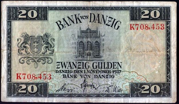 Dwadzieścia gdańskich guldenów /Wikimedia/