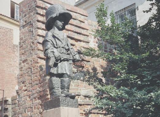 Pomnik Małego Powstańca w Warszawie /Z archiwum Narodowego Archiwum Cyfrowego/
