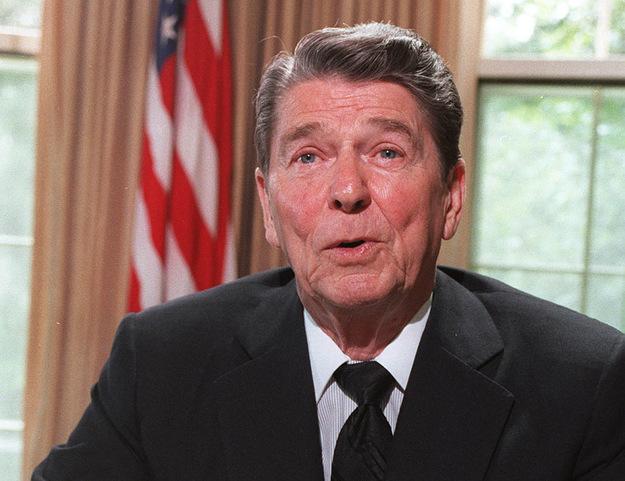 Prezydent Stanów Zjednoczonych Ronald Reagan /AFP/
