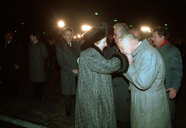 Margaret Thatcher i Mieczysław Rakowski /Jan Morek /Agencja FORUM/