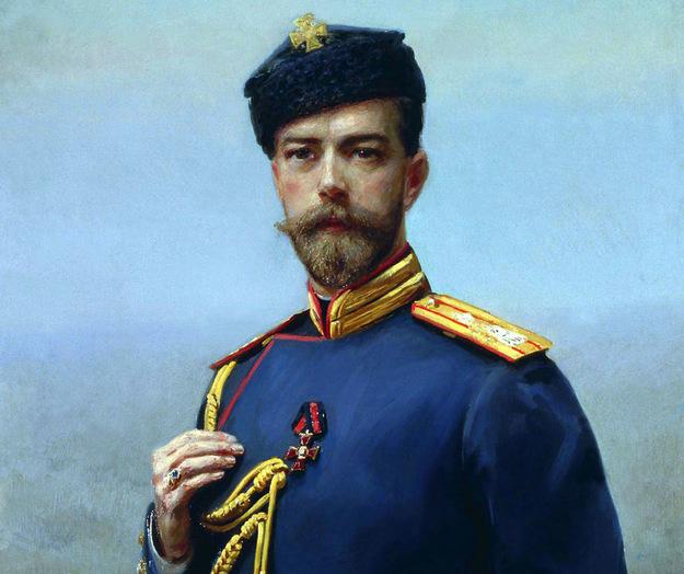 Car Mikołaj II w 1905 roku. Obraz H. Manizera /Wikimedia/