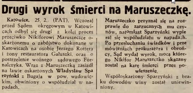 """""""Gazeta Lwowska"""" o procesie Nikifora Maruszeczko /Biblioteka Narodowa/"""