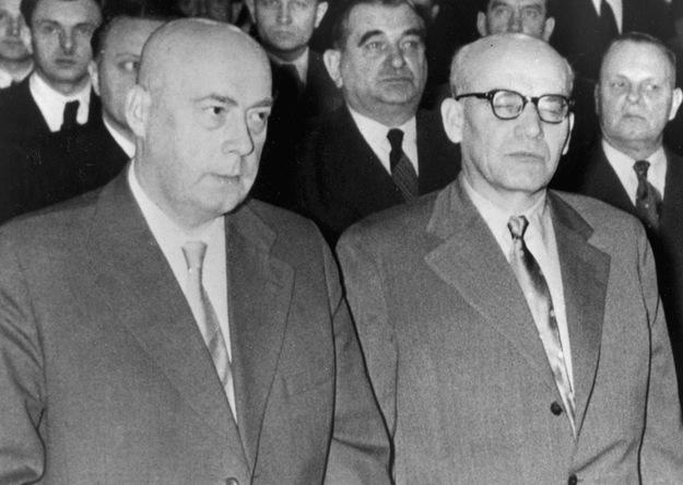 Józef Cyrankiewicz i Władysław Gomułka /AFP/