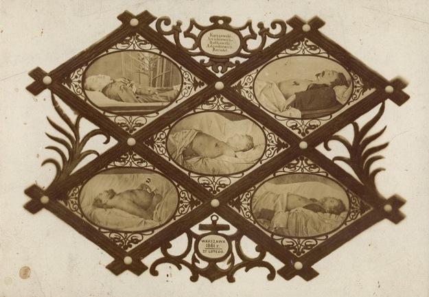 Pięciu poległych - tableau złożone z pięciu fotografii Karola Beyera /Wikimedia/